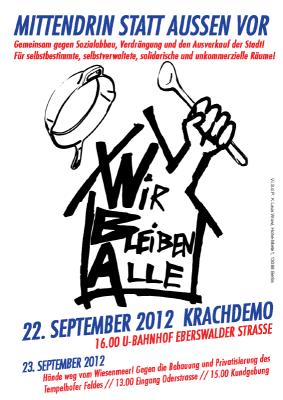 Wir bleiben alle! Demonstration am 22. September 2012